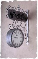 BAHNHOFSUHR METROPOLITAIN PARIS JUGENDSTIL WANDUHR RIESIG Uhr Einzelstück