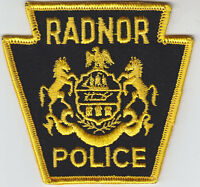 Radnor PA Pennsylvania POLICE patch CHEESECLOTH BACK/VINTAGE/OLD
