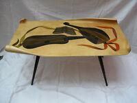Very rare 50´s Gio Ponti style ALDO TURA MILANO ITALY side table / Design Tisch