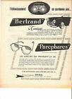 BERTRAND TAMISEUR PAREPHARES OFDC - 1954 / PUBLICITE PAPIER MAGAZINE PRESSE