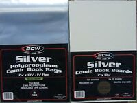 (200) BCW RESEALABLE SILVER-AGE COMIC BAGS & BACKING BOARDS - PRIORITY SHIPPING
