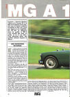 MG MGA - 1958 / 1988 ESSAI ARTICLE PRESSE REPORTAGE COUPURE MAGAZINE