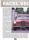 FACEL VEGA HK 500 / 1988 ARTICLE PRESSE REPORTAGE COUPURE MAGAZINE