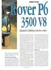 ROVER P6 3500 V8 - 1968 1976 / 1995 ARTICLE PRESSE REPORTAGE COUPURE MAGAZINE
