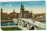 Alte Ansichtskarte Postkarte Dresden Altstadt farbig 1916