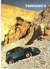 NISSAN TERRANO II - 1996 / catalogue brochure prospekt catalog dépliant catalogo