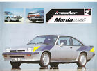 IRMSCHER MANTA OPEL - 1981 / catalogue brochure prospekt dépliant catalog folder