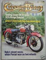 Classic Bike magazine March 1982 featuring Rudge Special, DKW
