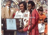 GEORGE BEST & PELE SIGNED (PRINTED) NEW YORK COSMOS MANCHESTER UNITED FC LEGENDS