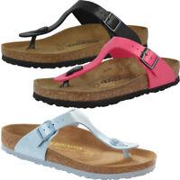 Birkenstock Gizeh Birko-Flor Graceful Zehentrenner Damen Zehensteg Flip Sandale