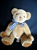 """KEEL TOYS SIMPLY SOFT JOINTED TEDDY BEAR 15"""" TALL SOFT PLUSH TOY COMFORTER"""