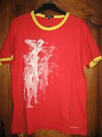 tee-shirt rouge/jaune burberry golf taille S