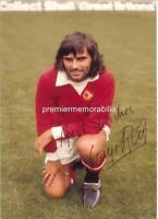 GEORGE BEST SIGNED MANCHESTER UNITED FC MAN UNITED FC