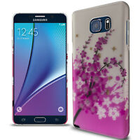 Hard Phone Case for Samsung Galaxy Note 5 - Spring Flower Design Slim Back Cover