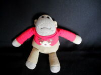 "PG TIPS TV ADVERT HEY MONKEY 7"" SOFT KNITTED CHRISTMAS MONKEY TOY EX CONDITION"