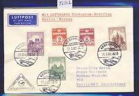 43927) DDR DH FF Berlin - Moskau 1.4.60, Brief ab Dänemark, RR!!