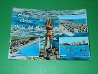 Cartolina Saluti da Grado - Isola del Sole - Vedute diverse  1962