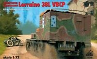 LORRAINE 38L VBCP CARRIER AND ARTILLERY TRACTOR  (FRENCH MKGS 1940) 1/72 RPM