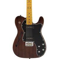 Fender Modern Player Tele Thinline Deluxe Guitar Black Trans  Maple Fretboard