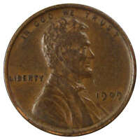 1909 1c Lincoln Wheat Cent Penny XF EF Extremely Fine