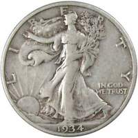 1934-S 50c Liberty Walking Silver Half Dollar VF Very Fine