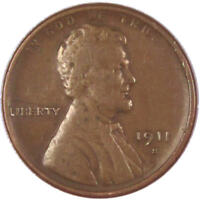 1911 S Lincoln Wheat Cent Penny Genuine