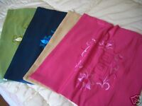 """100% silk embroidered cushion covers 18""""x18"""" !!! Stunning!"""