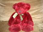 Russ Teddy Bear Spangles Cranberry & sparkly plush bear