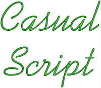 Casual Fonts Machine Embroidery Designs CD 4x4 Font FR