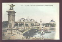 France PARIS early  PPC Pont Alexandre Glitter u/b