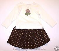 Girls KELLY'S KIDS outfit 3-4 NEW shirt skirt 3T 4T set