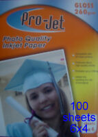 6x4 Gloss 260 gsm photo inkjet Cards 100 Sheets