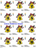 CHRISTMAS BELLS FONT (4x4)  MACHINE EMBROIDERY DESIGNS