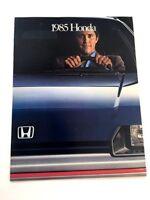 1985 HONDA LINE SALES BROCHURE CRX CIVIC ACCORD PRELUDE