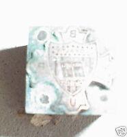 Vintage Wood & Metal Printers Block BYU Univeris Symbol