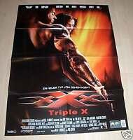 Filmposter A1 Neu Filmplakat XXX Triple X - Vin Diesel