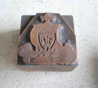 Vintage Wood & Metal Printers Block POS of A Logo LOOK