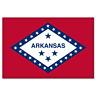 "Arkansas State Flag car bumper sticker 5"" x 4"""