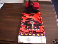 Halloween Witch Bats  Crochet Top Kitchen Towel