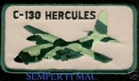 C-130 HERCULES HAT PATCH AUTHENTIC US AIR FORCE MARINE NAVY PIN UP HERK GIFT WOW
