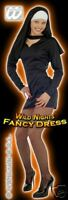 FANCY DRESS COSTUME = DELUXE SPICY NUNS SHORT UNIFORM