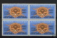 South Africa 1965 SG#261 12.5c Church MNH Block