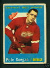 1959 60 TOPPS HOCKEY 4 PETE GOEGAN DETROIT RED WINGS