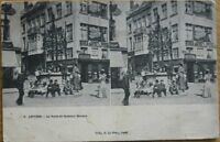 1910 Deley Stereoview Postcard: Antwerp/Anvers, Belgium