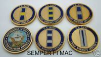 CHALLENGE COIN US NAVY WARRANT OFFICER 5 COIN SET USS