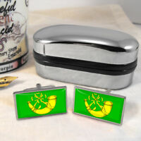 Huntingdonshire Flag Mens Gift Cufflinks UK
