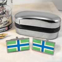 Gloucestershire Flag Mens Gift Cufflinks UK