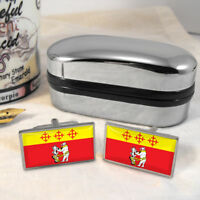 Warwickshire Flag Mens Gift Cufflinks UK