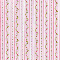 """COTTON CLOTHES DRESS PAJAMA FABRIC SHABBY FLORAL ROSE STRIPE PINK BLUE 44""""W BTY"""