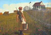 QUALITY BANKSY ART PHOTO PRINT (HOUSE ON THE HILL)